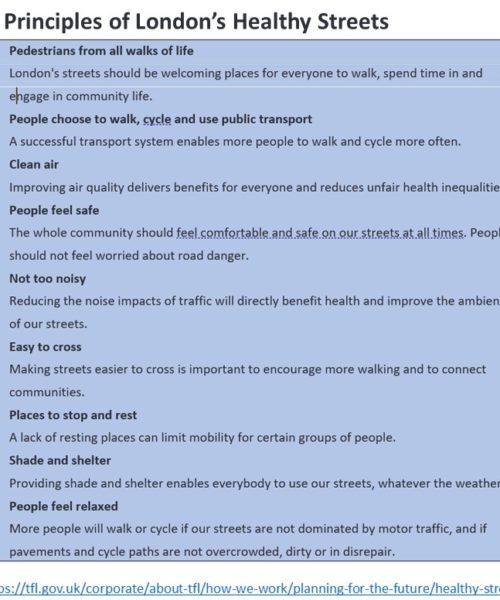 Healthy Streets Principles