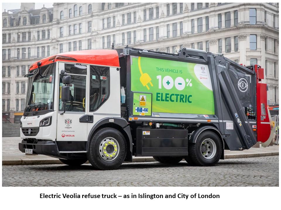 Electric Refuse Trucks - Dennis Eagle